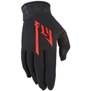 Fly Racing Pro Lite Gloves Black/Red -3 Size-